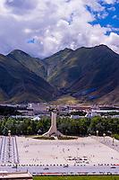 Potala Palace Plaza, Lhasa, Tibet (Xizang), China.