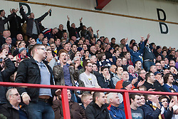 Fans after the second goal..Hamilton 1 v 2 Falkirk, Scottish Cup quarter-final, Saturday, 2nd March 2013..©Michael Schofield.