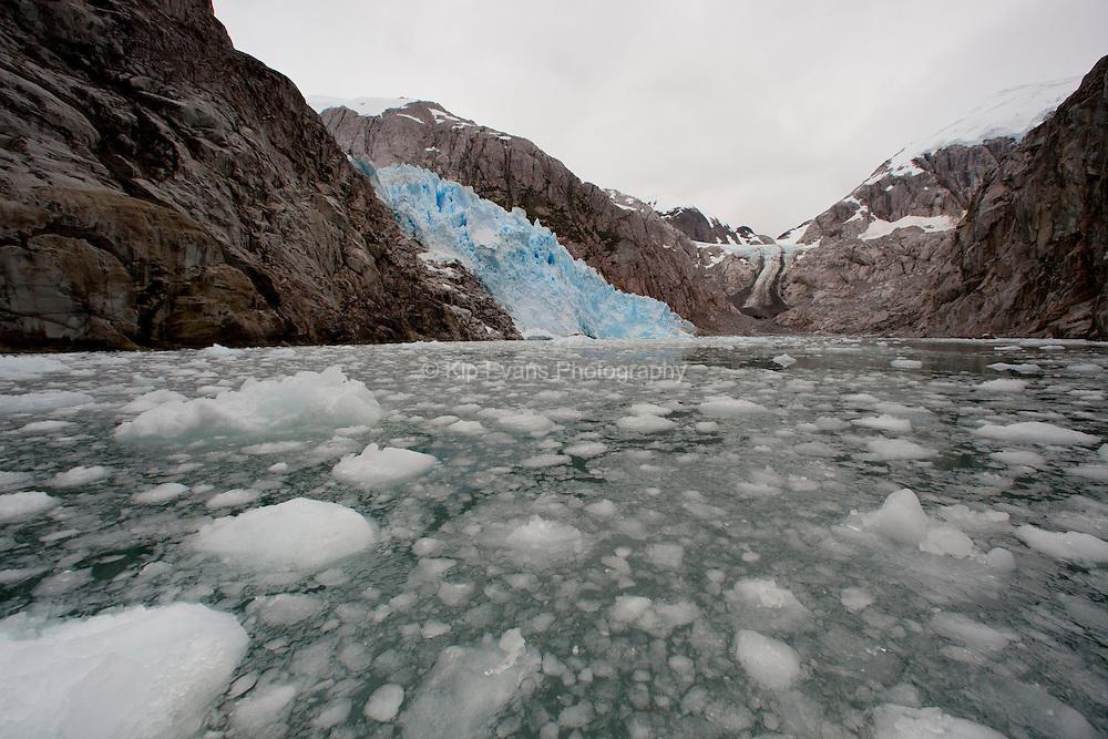 Glacier melting in Chile