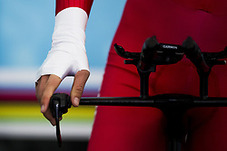 September 19, 2017 - Bergen, NORWAY - 170919 Close-up of Olav Hjems¾ter of Norway in the warm up zone ahead of the Men Junior Individual Time Trial on September 19, 2017 in Bergen..Photo: Jon Olav Nesvold / BILDBYRN / kod JE / 160021 (Credit Image: © Jon Olav Nesvold/Bildbyran via ZUMA Wire)