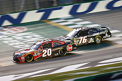 July 13, 2018 - Sparta, Kentucky, United States of America - Christopher Bell (20) and Spencer Boyd (76) battle for position during the Alsco 300 at Kentucky Speedway in Sparta, Kentucky. (Credit Image: © Chris Owens Asp Inc/ASP via ZUMA Wire)