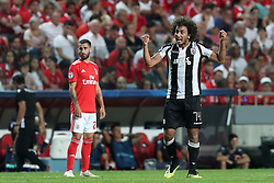 August 21, 2018 - Lisbon, Portugal - PAOK's midfielder Amr Warda from Egypt celebrates after scoring a goal during the UEFA Champions League play-off first leg match SL Benfica vs PAOK FC at the Luz Stadium in Lisbon, Portugal on August 21, 2018. (Credit Image: © Pedro Fiuza via ZUMA Wire)