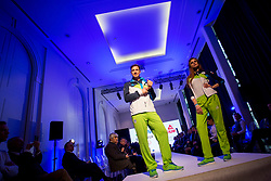 Iztok Hodnik and Karin Skufca at Official presentation of the Designer wear for Slovenian Athletes at PyeongChang Winter Olympic Games 2018, on December 19, 2017 in Grand Hotel Union, Ljubljana, Slovenia. Photo by Urban Urbanc / Sportida