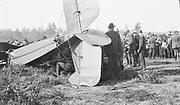 8903-31E. Avro airplane crash. May 30, 1921 at Rose City Speedway, NE Portland, Oregon