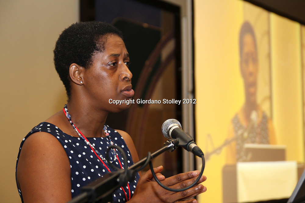 DURBAN - 28 March 2012 -  Thato Tsautse, the chief executive of the South Afrcan Association of Ship Operators and Agents speaks at a breakfast where it had been announced that there would be upgrades for Durban's RORO and Maydon Wharf Terminals,.Picture: Giordano Stolley/Allied Picture Press/APP