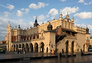 Exterior of the Renaissance Cloth Hall, on Rynek Glowny market square, on 23rd September 2019, in Krakow, Malopolska, Poland.
