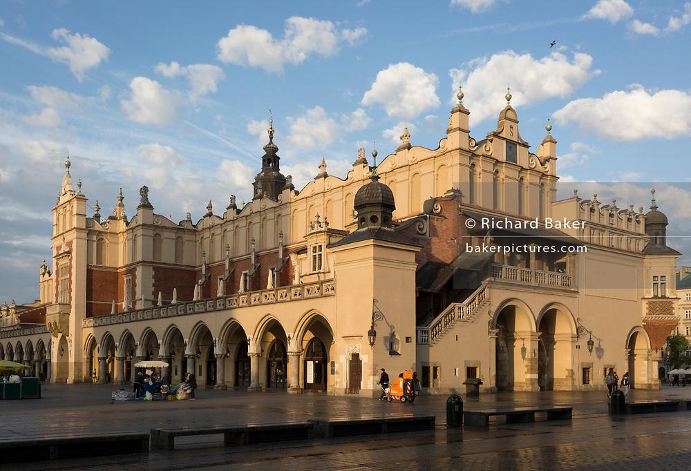 Exterior of the Renaissance Cloth Hall, on Rynek Glowny market square, on 23rd September 2019, in Krakow, Malopolska, Poland.