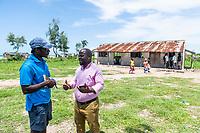 Marine Rangers visiting a rural school, Quifuki Island, Mozambique