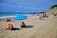 France, Pyrénées-Atlantiques (64), Pays Basque, Bidart, plage d'Erretegia // France, Pyrénées-Atlantiques (64), Basque Country, Bidart, Erretegia beach