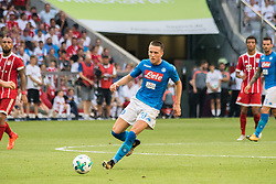 August 2, 2017 - Munich, Germany - Piotr Zielinski of SSC Napoli during the Audi Cup 2017 match between SSC Napoli v FC Bayern Muenchen at Allianz Arena on August 2, 2017 in Munich, Germany. (Credit Image: © Paolo Manzo/NurPhoto via ZUMA Press)