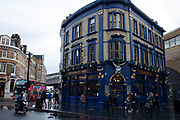 The Shipwrights Arms pub at London Bridge on 27th November 2019 in London, England, United Kingdom. This public house survived the massive redevelopment of the area which saw many businesses and bars close as part of the development.