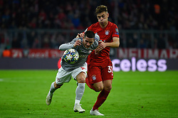 November 6, 2019, Munich, Germany: Daniel Podence from Olympiacos (L) and Joshua Kimmich from Bayern (R) seen in action during the UEFA Champions League group B match between Bayern and Olympiacos at Allianz Arena in Munich. (Credit Image: © Bruno De Carvalho/SOPA Images via ZUMA Wire)