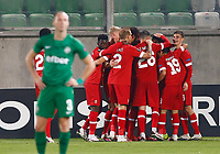 RAZGRAD, BULGARIA - OCTOBER 22: Lior Rafaelov of Antwerp celebrates after scoring his goal for 1-2 in 70th minute with his team mates during the UEFA Europa League Group J stage match between PFC Ludogorets Razgrad and Royal Antwerp at Ludogorets Arena on October 22, 2020 in Razgrad, Bulgaria. (Photo by Nikola Krstic/MB Media)