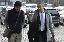 October 26, 2018 - Tongeren, BELGIUM - Lawyer Hans Rieder (L), defending referee Bart Vertenten, arrives for the appearance of eight suspects in the football fraud case at the Antwerp Court, Friday 26 October 2018. Several suspects in a large investigation into tax evasion, money laundering and possible match fixing in Belgian first division soccer competition were arrested in 'Operatie Propere Handen' (Operation Clean Hands)...BELGA PHOTO DIRK WAEM (Credit Image: © Dirk Waem/Belga via ZUMA Press)