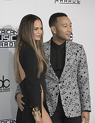 November 20, 2016 - Los Angeles, California, U.S - John Legend and Chrissy Teigen on the Red Carpet of the  2016 American Music  Awards held on Sunday, November  20, 2016 at the Microsoft  Theatre in Los Angeles, California. (Credit Image: © Prensa Internacional via ZUMA Wire)