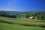 Farm, lake and forest, US Route #6, Bradford County, PA