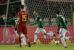 November 10, 2017 - Bruxelles, Belgique - Andres Guardado midfielder of Mexico celebrates scoring a penalty during a FIFA international friendly matc (Credit Image: © Panoramic via ZUMA Press)