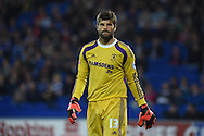Dimi Konstantopoulos , the Middlesbrough goalkeeper looks on. Skybet football league championship match, Cardiff city v Middlesbrough at the Cardiff city stadium in Cardiff, South Wales on Tuesday 16th Sept 2014<br /> pic by Andrew Orchard, Andrew Orchard sports photography.
