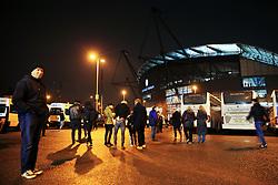 Bristol City fans arrive at the Etihad Stadium - Mandatory by-line: Matt McNulty/JMP - 09/01/2018 - FOOTBALL - Etihad Stadium - Manchester, England - Manchester City v Bristol City - Carabao Cup Semi-Final First Leg