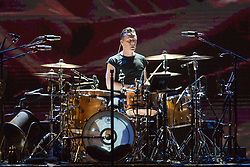 June 4, 2017 - Chicago, Illinois, U.S - LARRY MULLEN JR. of U2 during 30th Anniversary of the The Joshua Tree Tour at Soldier Field in Chicago, Illinois (Credit Image: © Daniel DeSlover via ZUMA Wire)