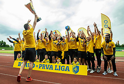 Celebration of NK Bravo, winning team in 2nd Slovenian Football League in season 2018/19 after they qualified to Prva Liga, on May 26th, 2019, in Stadium ZAK, Ljubljana, Slovenia. Photo by Vid Ponikvar / Sportida
