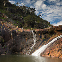 Serpentine Falls, near the towns of Serpentine and Jarrahdale, on outskirts of Perth, in Western Australia.