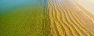 Seaglass,New York, Amagansett, Napeague Bay, South Fork, Long Island, High angle looking down on water, panorama