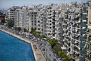 Griekenland, Thessaloniki, 11-6-2011Straatbeeld van deze stad in Noord Griekenland. Het is de tweede stad van het land.Griekenland is zwaar getroffen door het wanbeleid van voorgaande regeringen op financieel gebied. Foto: Flip Franssen