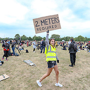 People participate in a Black Lives Matter protest rally in Hyde Park, London, on Wednesday, Jun 3, 2020 - in memory of George Floyd who was killed on May 25 while in police custody in the US city of Minneapolis. (Photo/ Vudi Xhymshiti)