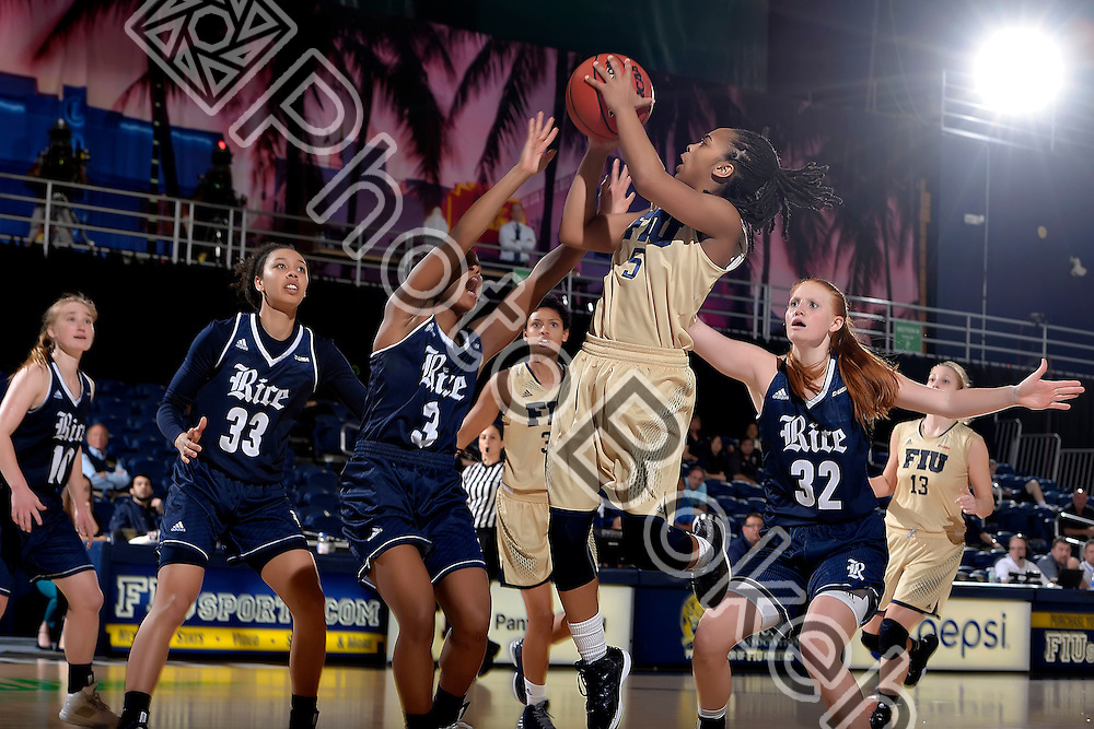 2016 February 20 - FIU's Taylor Shade (5). Florida International University fell to Rice, 62-68, at FIU Arena, Miami, Florida. (Photo by: Alex J. Hernandez / photobokeh.com) This image is copyright by PhotoBokeh.com and may not be reproduced or retransmitted without express written consent of PhotoBokeh.com. ©2016 PhotoBokeh.com - All Rights Reserved