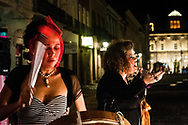 Night theatrical performance  in Pelourinho