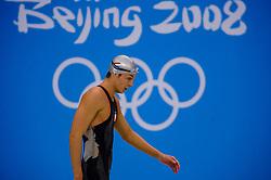 Pieter van den Hoogenband of Netherlands in action after the Olympic final 100m on August 14, 2008 in Beijing