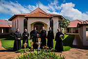 Priests of the Santo Tomás de Villanova seminary, Ourinhos, Brazil play a game of football against student trainees from the seminary. The seminarians' football team have won in recent years many local trophies as amongst the best team in the region.