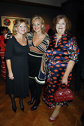 Left to right, KAY SAATCHI, AMANDA ELAISCH and MEREDITH ETHERINGTON-SMITH at an auction in aid of The Parkinson's Appeal for Deep Brain Stimulation 'Meeting of Minds' held at Christie's, King Street, London SW1 followed by a dinner at St.John, 26 St.John Street, London on 16th October 2007.<br /><br />NON EXCLUSIVE - WORLD RIGHTS