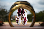 COLLEGE STATION, TX - OCTOBER 24, 2019 -  Adidas Ring Cleats in College Station, TX. Photo By Craig Bisacre/Texas A&M Athletics