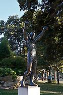 UNITED STATES-PHILADELPHIA-Statue of Rocky. PHOTO: GERRIT DE HEUS..VERENIGDE STATEN-PHILADELPHIA- Standbeeld van Rocky bij het Philadelphia Museum of Art. Sylvester Stallone beklom als Rocky de trappe van het museum. COPYRIGHT GERRIT DE HEUS