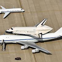 Shuttle Enterprise on 747 at Dulles Airport, Washington, DC