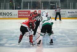 Start of  Alps League Ice Hockey match between HK SZ Olimpija and HDD SIJ Jesenice, on February 12, 2019 in Ice Arena Podmezakla, Jesenice, Slovenia. Photo by Peter Podobnik / Sportida