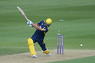 Hampshire captain Sean Ervine is bowled by Essex all rounder Ryan ten Doeschate during the Royal London One Day Cup match between Hampshire County Cricket Club and Essex County Cricket Club at the Ageas Bowl, Southampton, United Kingdom on 5 June 2016. Photo by David Vokes.