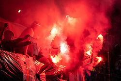 Lightshow during football match between NŠ Mura and NK Maribor in 4th Round of Prva liga Telekom Slovenije 2019/20, on Avgust 3, 2019 in Fazanerija, Murska Sobota, Slovenia. Photo by Blaž Weindorfer / Sportida