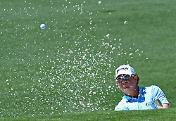 William McGirt chips onto the 2nd green during the third round of the Masters Tournament at Augusta National Golf Club in Augusta, Ga., on Saturday, April 8, 2017. (Photo by Jeff Siner/Charlotte Observer/TNS) *** Please Use Credit from Credit Field ***