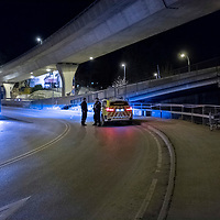 Kristiansand  20170104.<br /> En kvinne er knivstukket under en bru i Kristiansand onsdag kveld.<br /> Foto: Tor Erik Schrøder / NTB scanpix