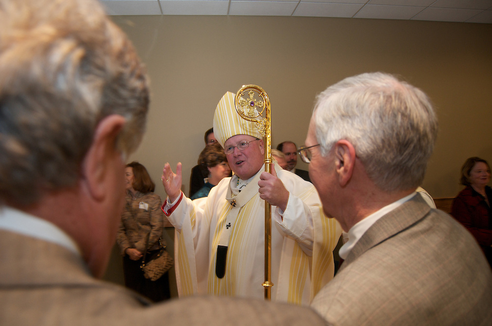 Archbishop Dolan during the recessional at dedication ceremony of the Three Holy Companions Chapel at Marquette University High School, Wednesday Nov. 5 2008.