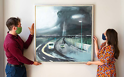 A contemporary take on the Queensferry Crossing Bridge, New Day Crossing by Kate Downie