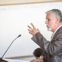 David Conejo delivers a financial update for the Rehoboth McKinley Christian Hospital during a McKinley County commissioners meeting at the McKinley County Courthouse in Gallup Tuesday.