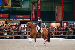 Cornelissen Adelinde (NED) - Jerich Parzival<br /> KWPN Hengstenkeuring - 's Hertogenbosch 2013<br /> © Dirk Caremans