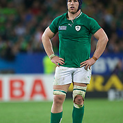 Sean O'Brien, Ireland,  during the Ireland V Italy Pool C match during the IRB Rugby World Cup tournament. Otago Stadium, Dunedin, New Zealand, 2nd October 2011. Photo Tim Clayton...