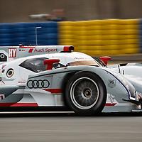 #1 Audi R18 e-tron quattro, Audi Sport Team Joest, Drivers:  André Lotterer, Marcel Fässler, Benoît Tréluyer, Le Mans 24H 2012