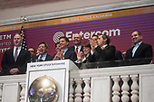 Handout: Entercom CEO & President David Field rings the closing bell at the New York Stock Exchange.