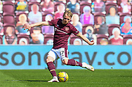 GOAL 1-0 Gary Mackay-Steven (#17) of Heart of Midlothian FC scores the opening goal during the SPFL Championship match between Heart of Midlothian and Inverness CT at Tynecastle Park, Edinburgh Scotland on 24 April 2021.